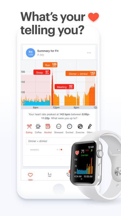 apple watch 血压 睡眠 心率 Cardiogram 1 - 安装它, apple watch居然可以监测血压和预防心脏病