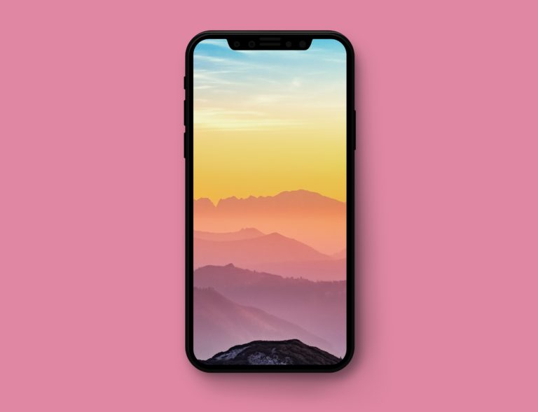 iphone 8 mockup downloadable 768x589 - iPhone X高清壁纸之云景图