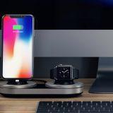 iPhone和Apple Watch无线充电底座 排排坐吃果果