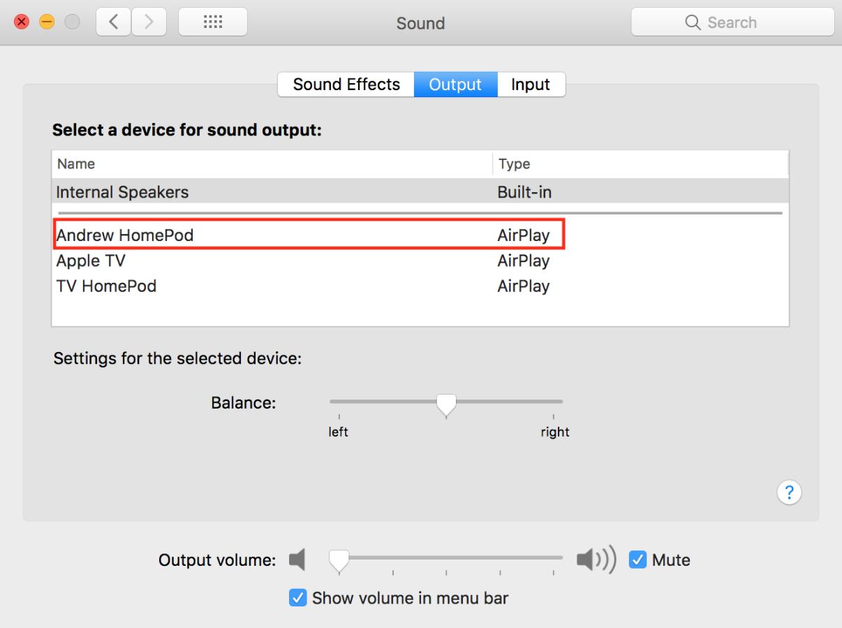 Mac或者MacBook连接HomePod的最优办法 3 - Mac和MacBook连接HomePod的最优办法