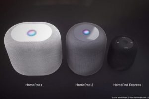 homepod 2 and homepod express e1532926010759 300x200 - 苹果可能推出升级版HomePod 2与便携版HomePod Express