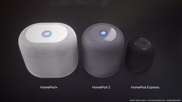 homepod 2 and homepod express e1532926010759 - 苹果可能推出升级版HomePod 2与便携版HomePod Express