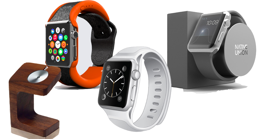 apple watch accessories - iPhone和Apple Watch无线充电底座 排排坐吃果果