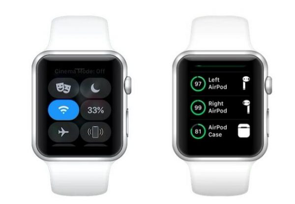 apple watch 查看AirPods电量 e1547305658604 - 如何查看AirPods耳机的电池电量,iPhone、Apple Watch、Mac都可以哦