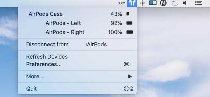 mac 查看AirPods电量 - 如何查看AirPods耳机的电池电量,iPhone、Apple Watch、Mac都可以哦