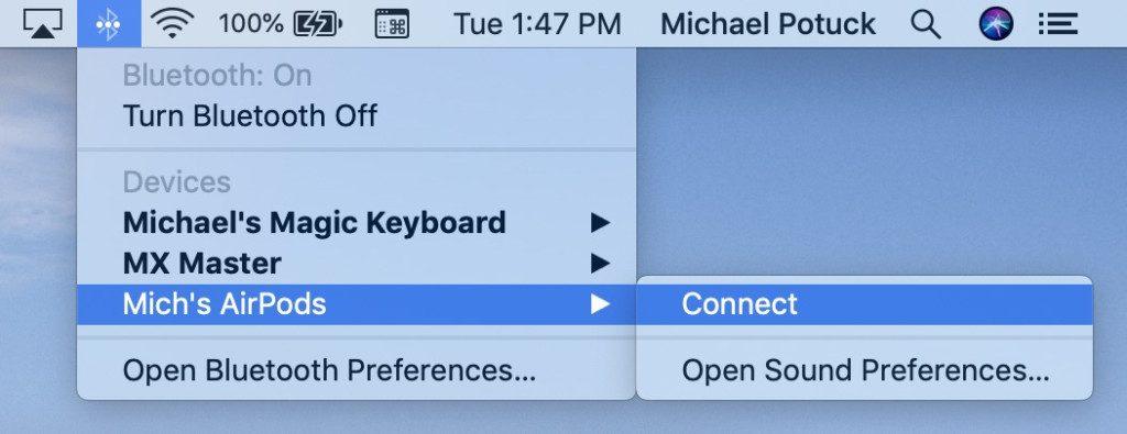 如何在Mac上使用AirPods听音乐 1024x395 - AirPods如何连接你的Mac或者MacBook 如何在Mac上使用AirPods听音乐