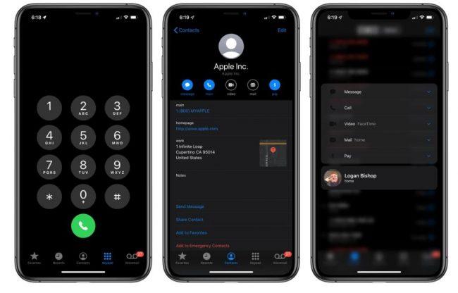 "ios 13 深色模式 电话 e1559610098320 - 苹果推出iOS 13新增深色模式 全面""黑化"""