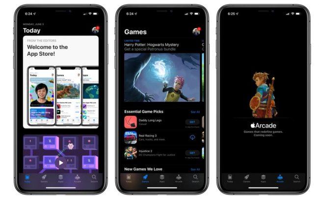 """ios 13 深色模式 apple store e1559610067995 - 苹果推出iOS 13新增深色模式 全面""""黑化"""""""